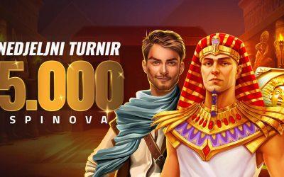 Nedjeljni turniri – 5.000 spinova